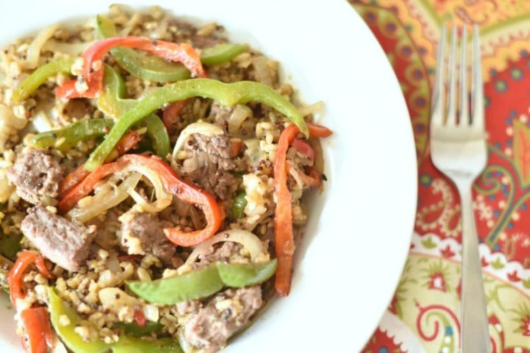 Knorr One Skillet Meal Starters + Steak & Peppers, Brown Rice & Quinoa Recipe
