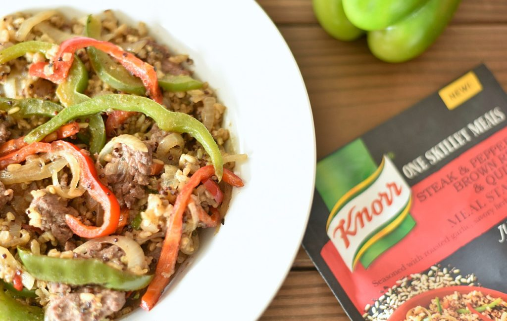 Save time and money when doing your meal planning with help from Knorr One Skillet Meal Starters. Plus, check out this Steak & Pepper Brown Rice & Quinoa recipe!
