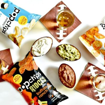 Easy Popchips and Dip Bar Idea for the Big Game
