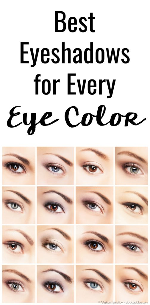 "Have you ever wondered to yourself, ""What is the best eyeshadow for blue eyes?"" Well as a fellow blue-eyed woman, I've done the research on the best eyeshadow colors for blue eyes so you don't have to! Plus, here are the best color eyeshadows for all the other eye colors as well!"