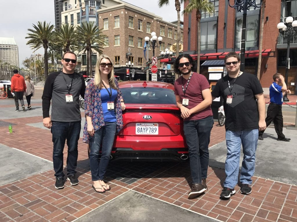 Kia Stinger in San Diego Outside of the Hard Rock Hotel Gas Lamp District