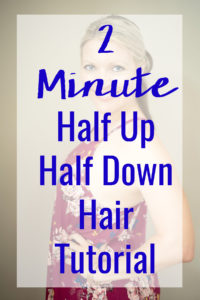 This fast and easy half up half down hairstyle tutorial is so simple and works on medium to long hair. It's a super versatile look that can be dressed up or down with just a ponytail holder and bobby pins.
