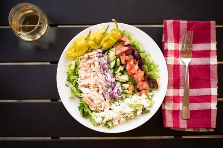 Easy Greek Salad with Rotisserie Chicken Recipe
