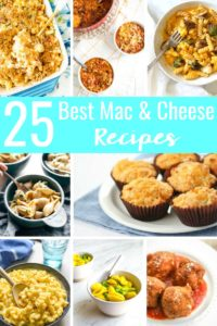 Celebrate National Mac & Cheese Day with this roundup of the 25 Best Mac & Cheese Recipes! These mouthwateringly, delicious recipes go beyond a box and will transform the way you think about macaroni & cheese!