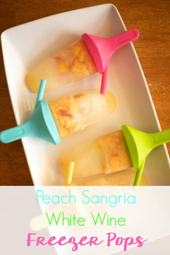 This easy recipe for peach sangria white wine freezer pops with Llano Estacado Wine will keep you cool with a mixture of Texas wine and peaches!