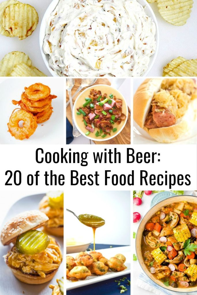 When people thinking about cooking with alcohol, their mind automatically drifts to wine. But I love using different drinks in different ways like tequila to marinate meat and whiskey in desserts. But what about beer? You can cook with it too and here are the best cooking with beer recipes on the internet!