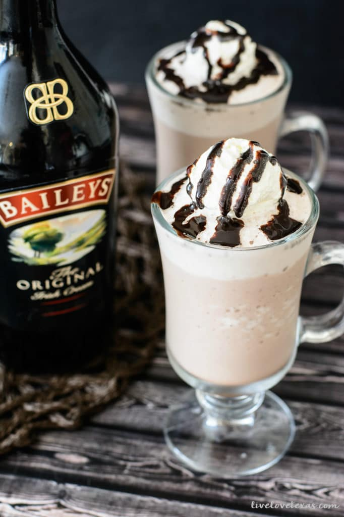 Frozen Hot Chocolate with Bailey's