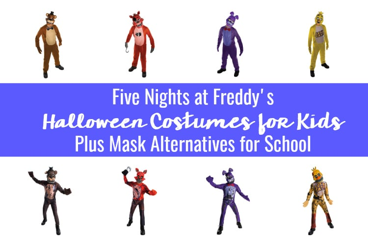 Five Nights Freddy Halloween Costumes for Kids