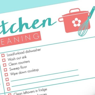 Free Kitchen Cleaning Checklist Printable