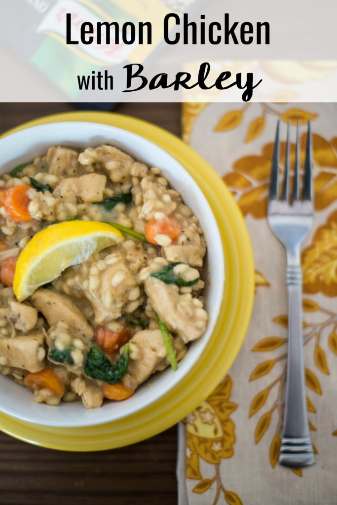 Making a delicious meal doesn't have to cost a lot of money or time. Just try this 30-minute Lemon Chicken with Barley recipe!