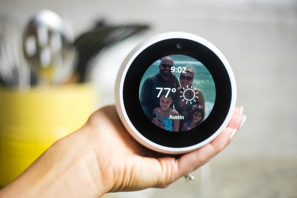 What is the Amazon Echo Spot? This newest Alexa-enabled device is the ultimate personal assistant designed to make your home and your life easier. Check out all of the features and ways this family uses the Echo Spot from sun up to sun down.