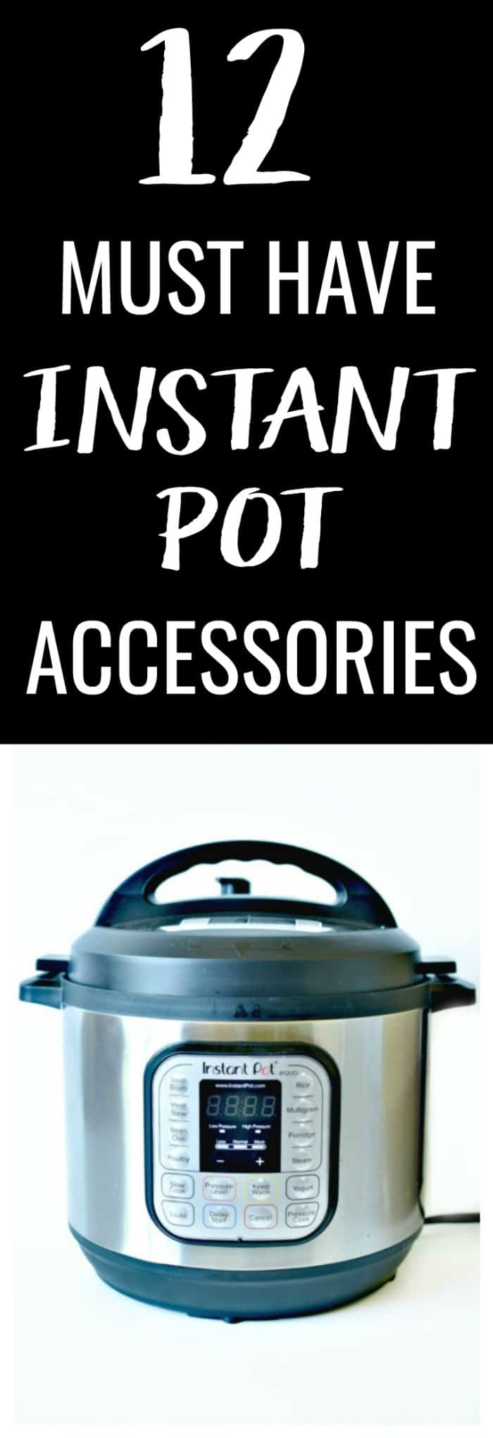 You have an Instant Pot, now what? These 12 Must Have Instant Pot Accessories will take your cooking to the next level and maximize your Instant Pot!