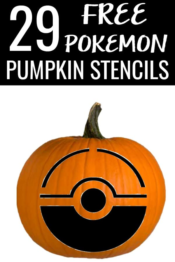 These 29 Free Pokemon Pumpkin Stencils are perfect for the Pokemon fan in your life! Use these free pumpkin carving patterns to create jack-o-lanterns with your favorite characters for Halloween! #halloween #pumpkins #jackolanterns #freepumpkinpatterns #freepumpkin #pumpkinstencils #pumpkincarving #freepatterns #freestencils #pokemon #pokemongo #pokemonhalloween #pikachu #eevee #jigglypuff #gastly #charizard