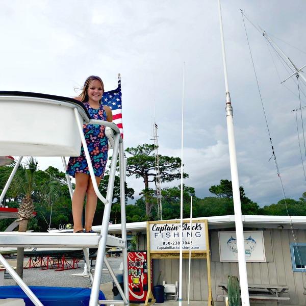 Brady on Captain Blacks Fishing Boat Panama City Beach Florida