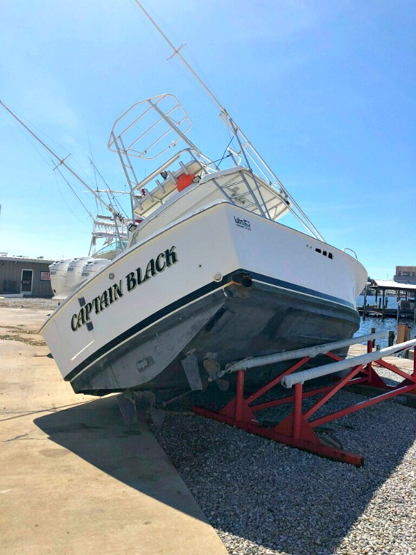 Captain Black's Fishing Boat After Hurricane Michael