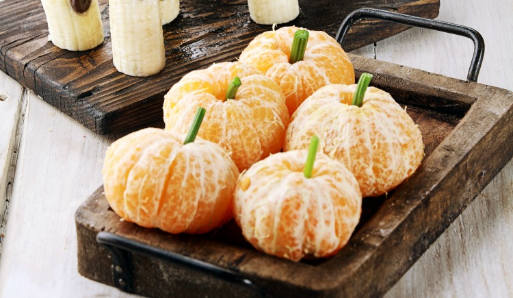 Clementine Pumpkins Halloween Food