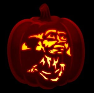 Dobby Harry Potter Pumpkin Stencil
