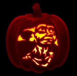 Dobby Harry Potter Pumpkin Stencil