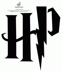 HP Harry Potter Inititals Pumpkin Stencil