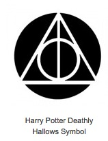 Harry Potter Deathly Hallows Symbol Pumpkin Stencil
