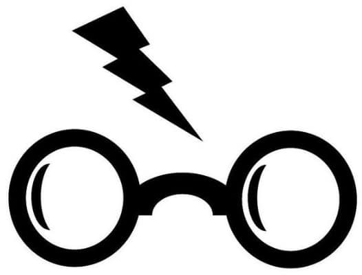 Harry Potter Glasses Pumpkin Stencil