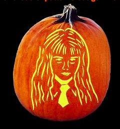 Hermione Granger Pumpkin Stencil