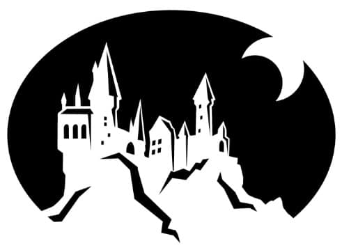 Hogwarts Outline Pumpkin Stencil