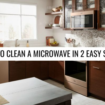 Stop Scrubbing! How to Clean a Microwave in 2 Easy Steps!