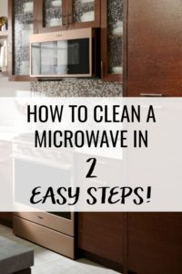 Stop spending time scrubbing your microwave. Learn how to clean a microwave quickly in just two easy steps!