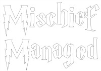 Mischief Managed Pumpkin Stencil
