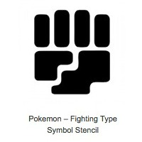 Fighting Type Pokemon Pumpkin Stencils