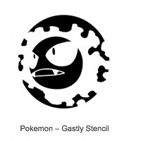 Pokemon Gastly Pumpkin Stencils