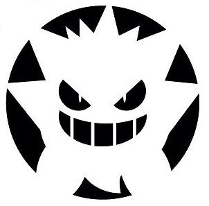 Pokemon Gengar Pumpkin Stencil