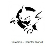 Pokemon Haunter Pumpkin Stencils