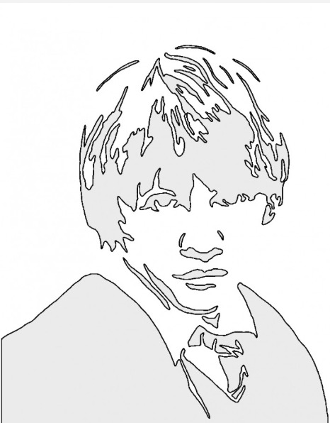 Ron Weasley Harry Potter Pumpkin Stencil