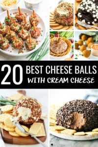 Are you on the search for an easy cream cheese ball recipe? Simplify your holiday appetizers with the 20 Best Cream Cheese Ball recipes! With a basic cream cheese base, you can create all of these sweet and savory cheese ball recipes!