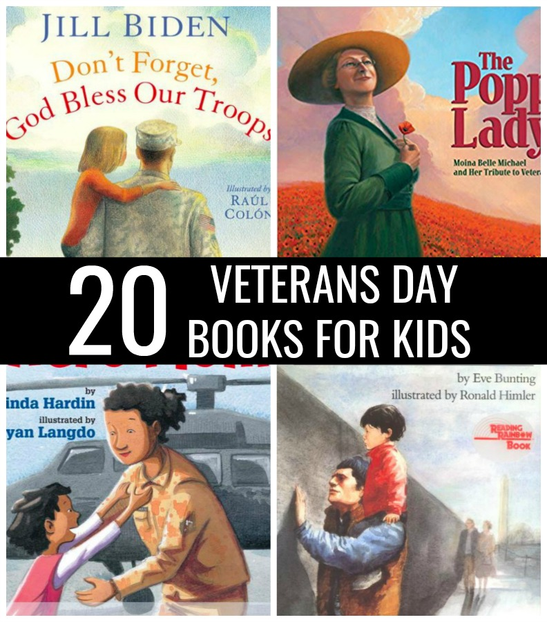 Sometimes it's hard to explain the importance and meaning behind a holiday. If you need a little help, check out these 20 Veterans Day Books for Kids.