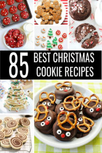 Don't stress over baking for your Christmas cookie exchange! Get ready with the 85 Best Christmas Cookie Recipes! From chocolate and sugar to peppermint and ginger, there's an easy Christmas cookies recipe for everyone! #christmascookies #christmasrecipes #easyrecipes #bestrecipes #cookierecipes #cookies #cookieexchange