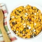 Roasted Butternut Squash Side Dish with Feta Cheese & Dried Cranberries