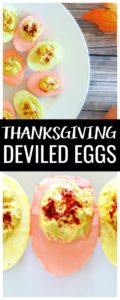 Get festive with your Thanksgiving appetizer this year and try these Colorful Deviled Eggs recipe!