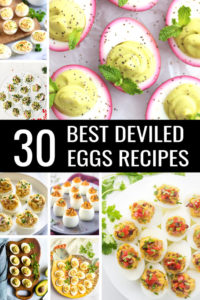 Prepare yourself for the 30 Best Deviled Egg Recipes ever! From your favorite, classic holiday appetizer recipes to easy recipes and deviled eggs with bacon. There's truly a deviled eggs appetizer for everyone! #deviledeggs #deviledeggsrecipe #eggrecipe #recipes #easyrecipes#bestrecipes #classicrecipes #appetizers #holidayappetizers #apps