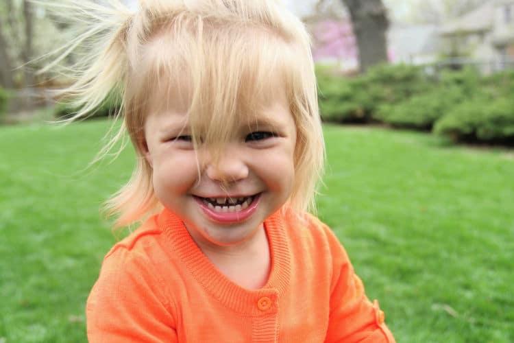 toddler girl on easter