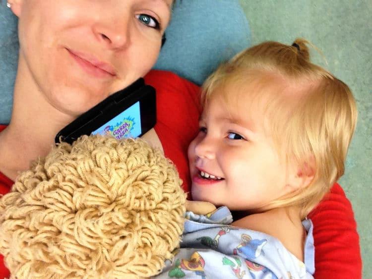 Kelly & Colby after febrile seizure 2