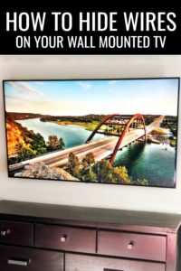 Create more space in your home and have a sleeker appearance when you learn How to Hide TV Wires on Your Wall Mounted TV! #sponsored #diy #organization #cordorganization