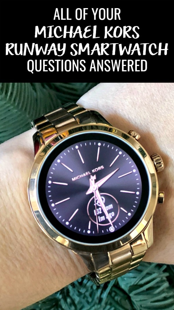 Not all smartwatches are alike. Here are all of your Michael Kors Runway Smartwatch Questions Answered. Not only is this a beautiful statement piece of jewelry, but it's also super techy too! #sponsored #jewelery #smartwatch #weightloss #smartdevices #google #wearos #michaelkors #mkstyle #runwaysmartwatch #rosegold