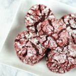 These delightful red velvet crinkle cookies are made with boxed cake mix. So there is less measuring, less fuss, and more time for laughing and eating cookies.