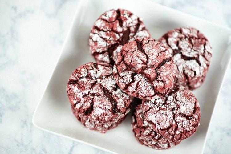 Red Velvet Crinkle Cookies Recipe #ChristmasSweetsWeek