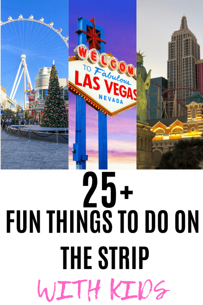 Vegas for kids?! Yes! Las Vegas has quickly turned into an affordable and fun destination for families. Here are 25 Things to Do in Las Vegas with Kids on the Strip! #lasvegas #familytravel #vegas