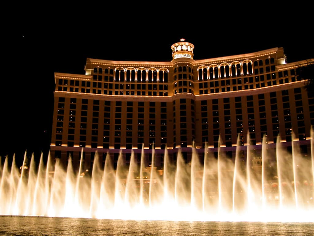 Bellagio Hotel Fountain Show in Las Vegas