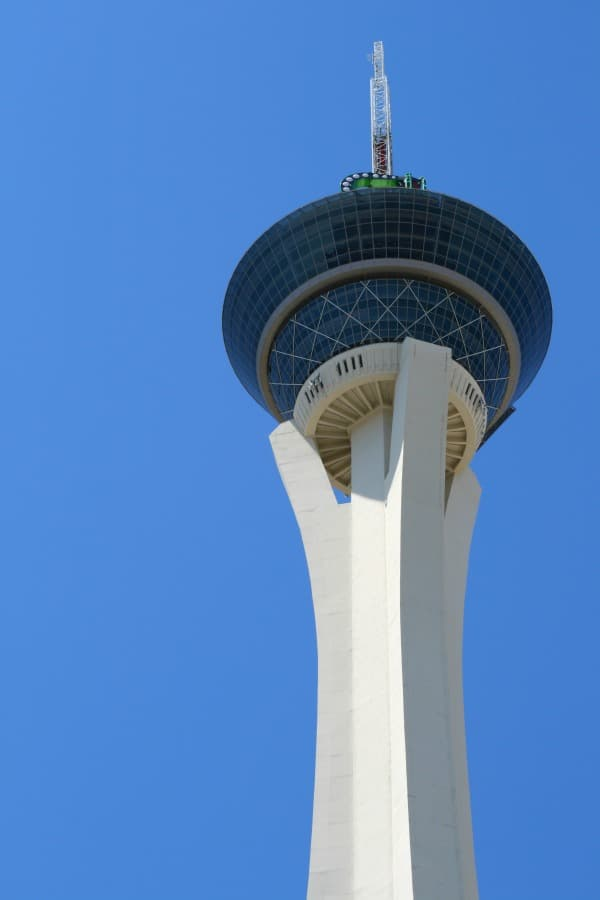 Big Shot ride on top of the Stratosphere Hotel in Las Vegas.